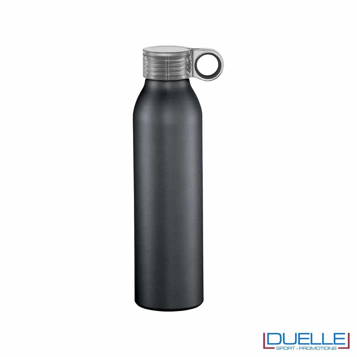 Bottiglia personalizzata con incisione in alluminio colore nero