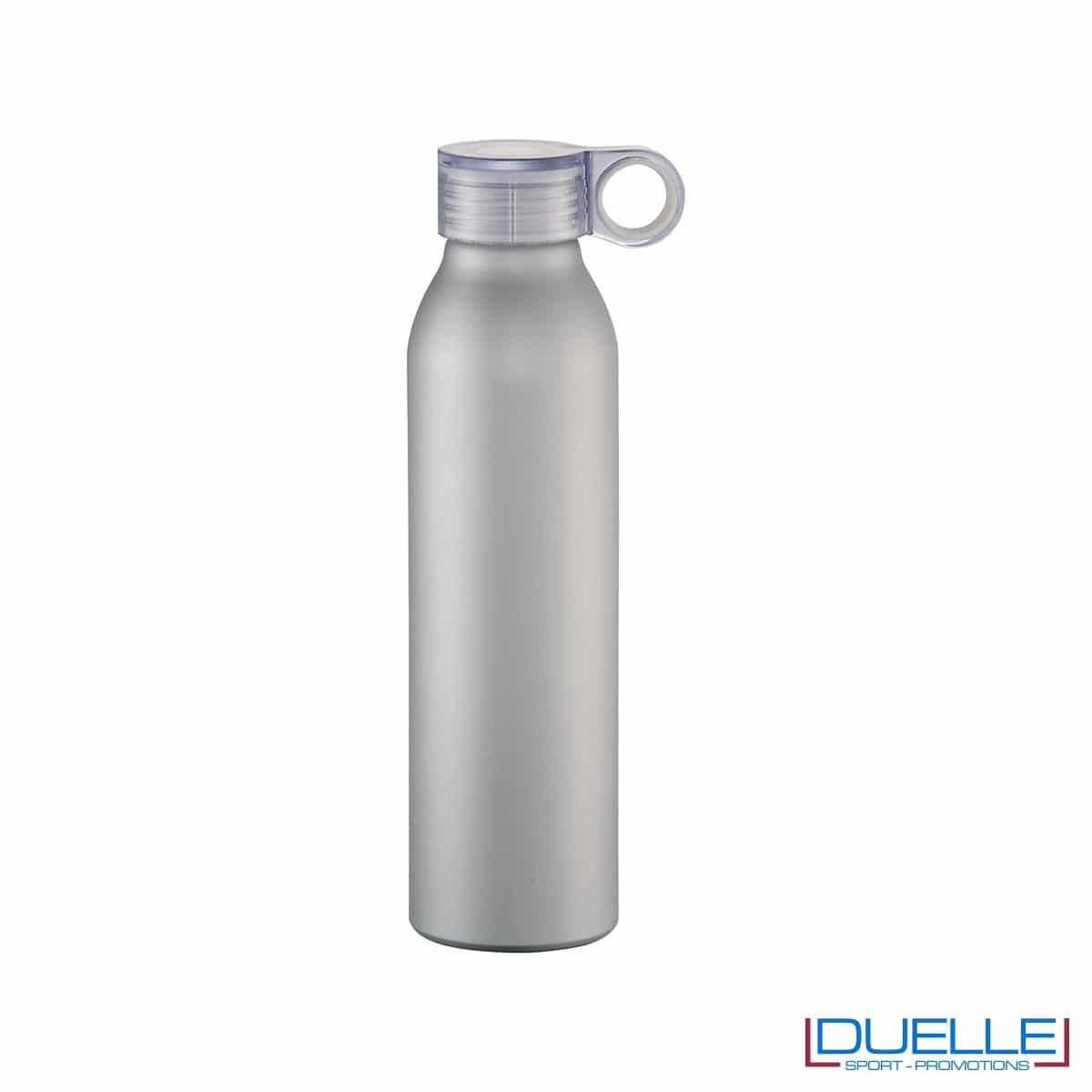 Bottiglia personalizzata con incisione in alluminio colore silver