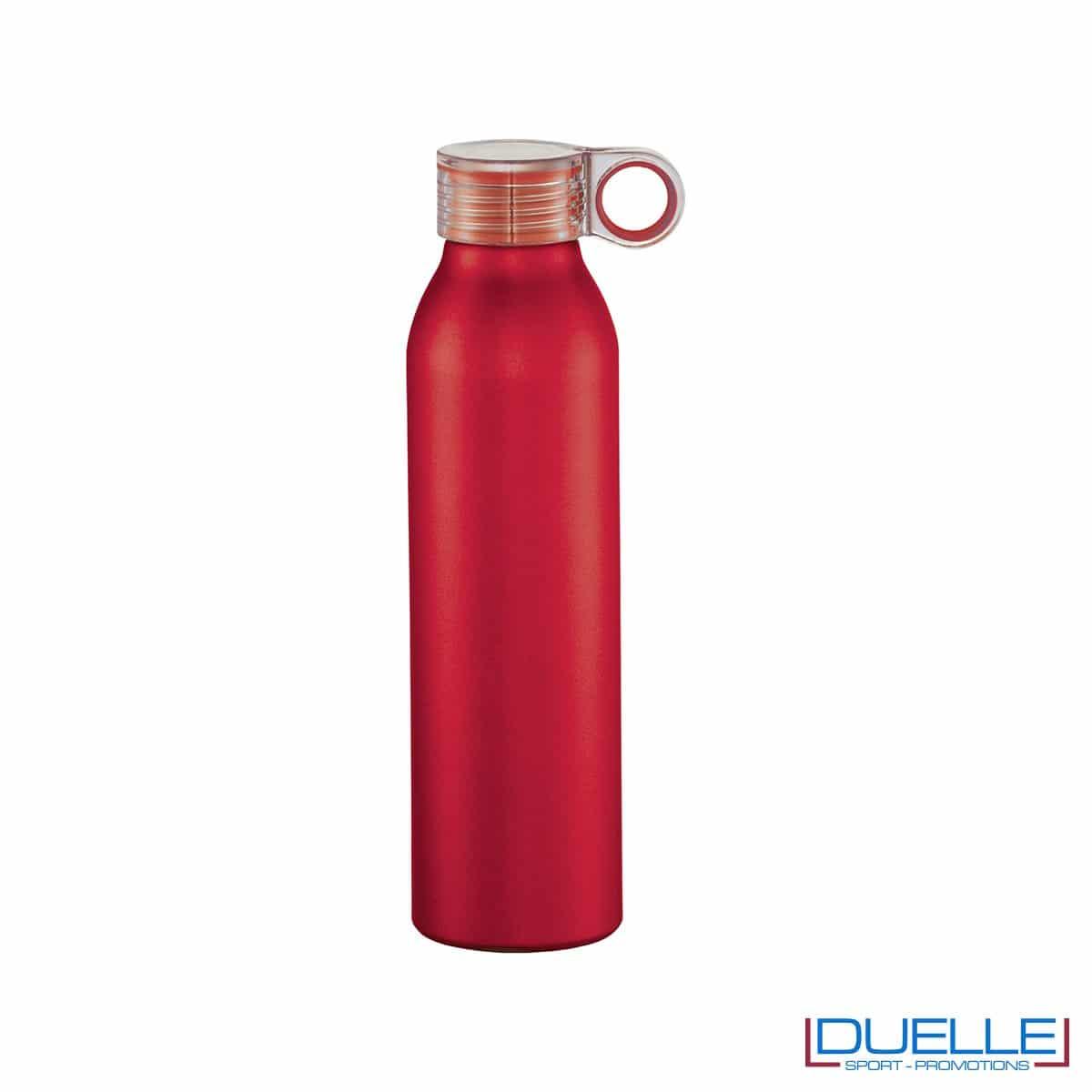 Bottiglia personalizzata in alluminio tappo a vite colore rosso