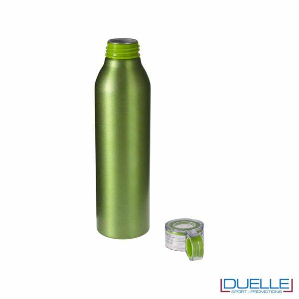 Bottiglie personalizzate con incisione in alluminio