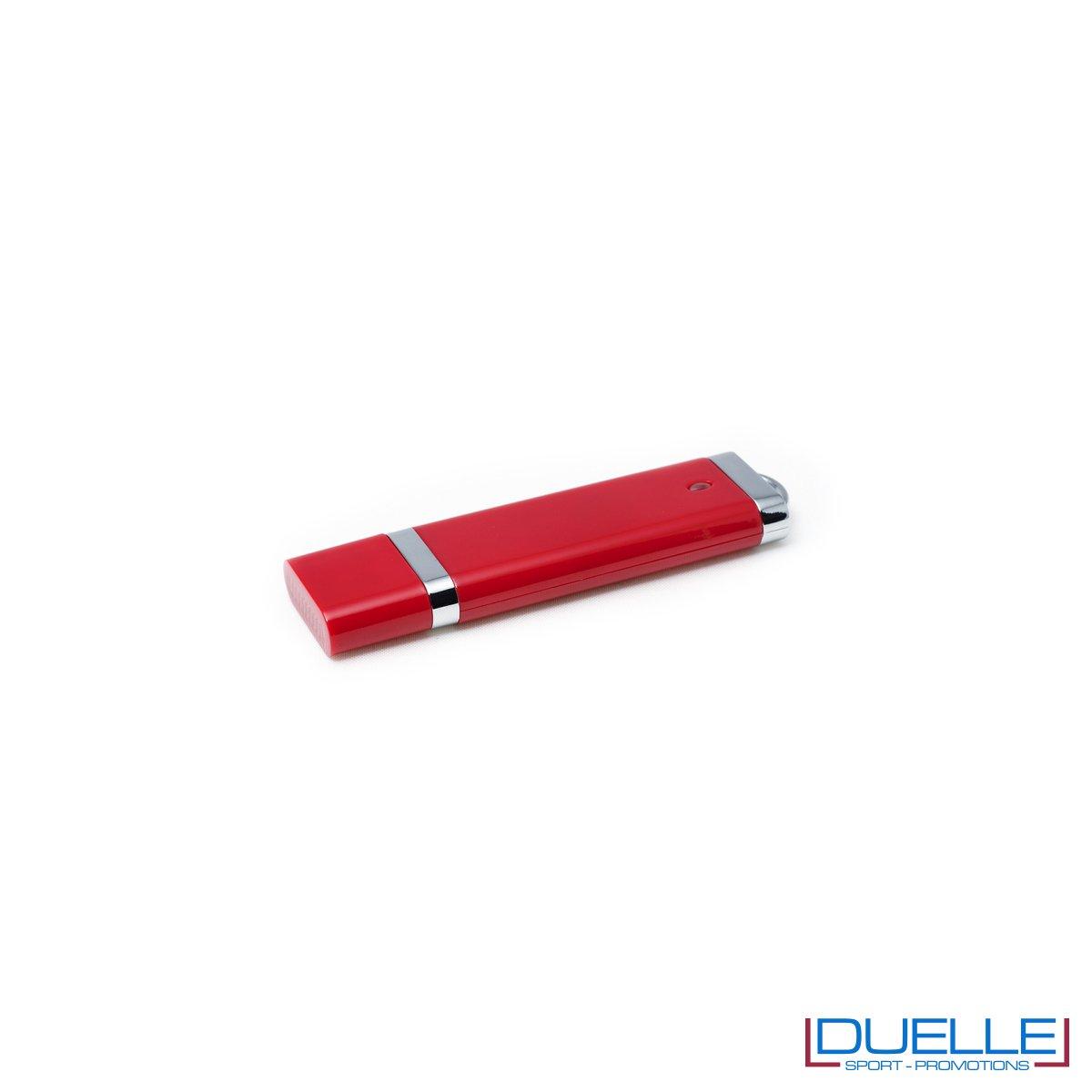 Pennetta USB personalizzata con cappuccio colore rosso