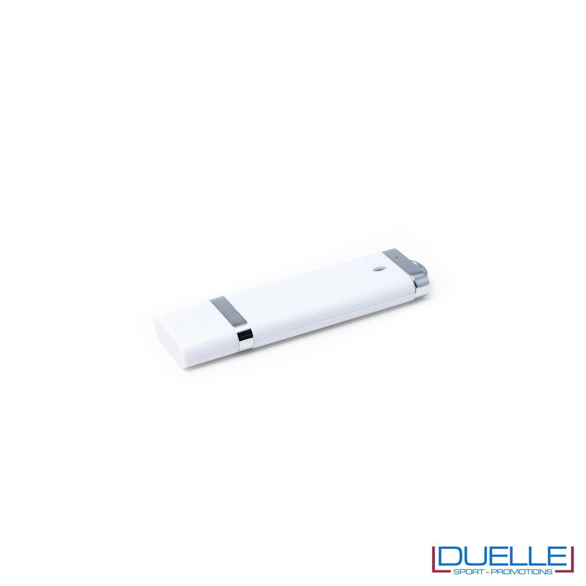 Pennetta USB personalizzata con cappuccio colore bianco