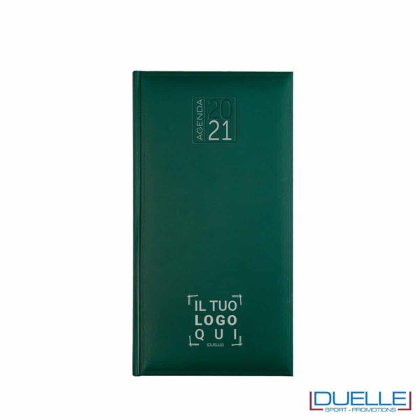 Agenda tascabile 2020 settimanale personalizzata con copertina gommata colore verde scuro