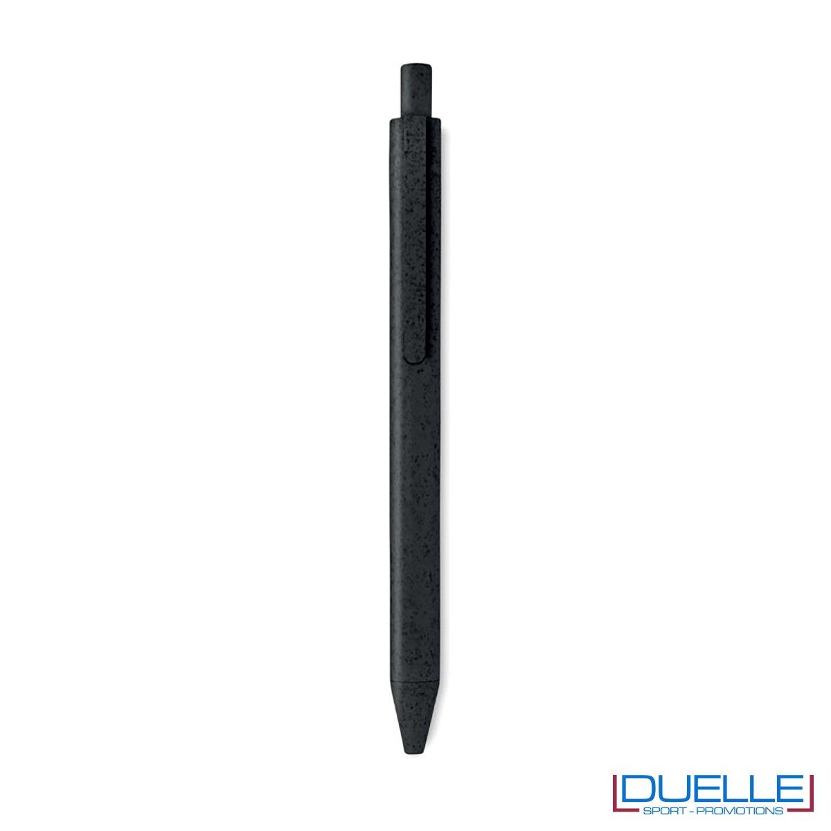 Penna ecologica in fibra di mais personalizzata colore nero