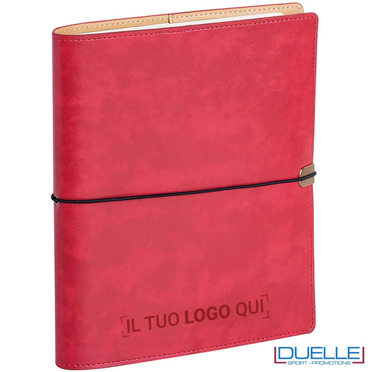 agenda portafoglio rossa personalizzata