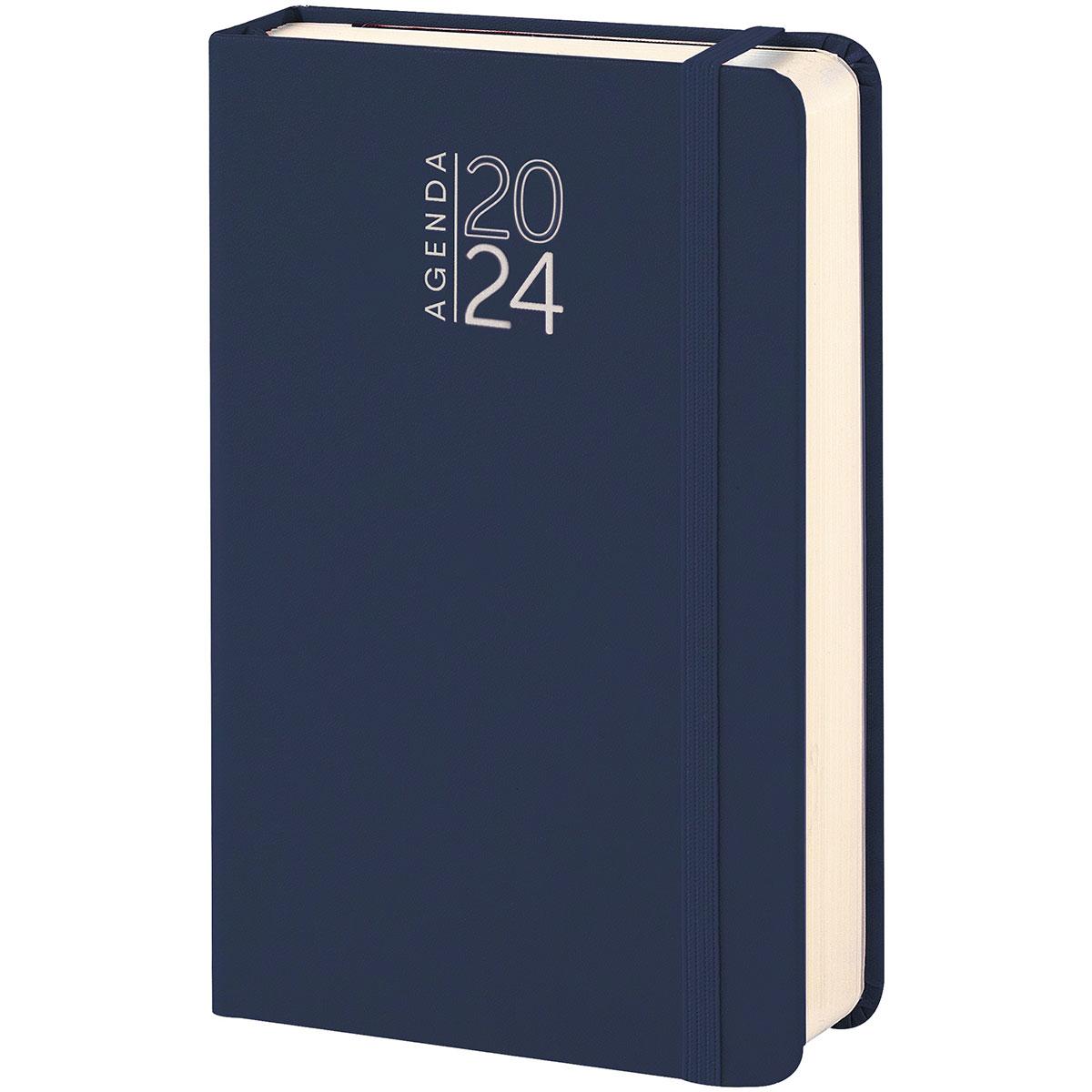 Agenda tipo moleskine colore blu personalizzata con stampa a colori