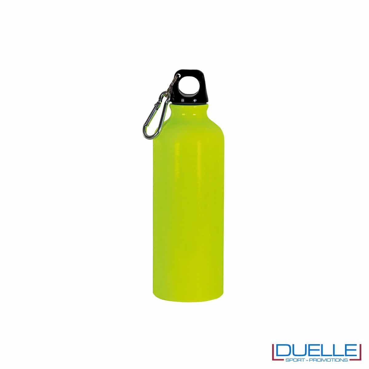 borraccia in alluminio colore giallo fluo