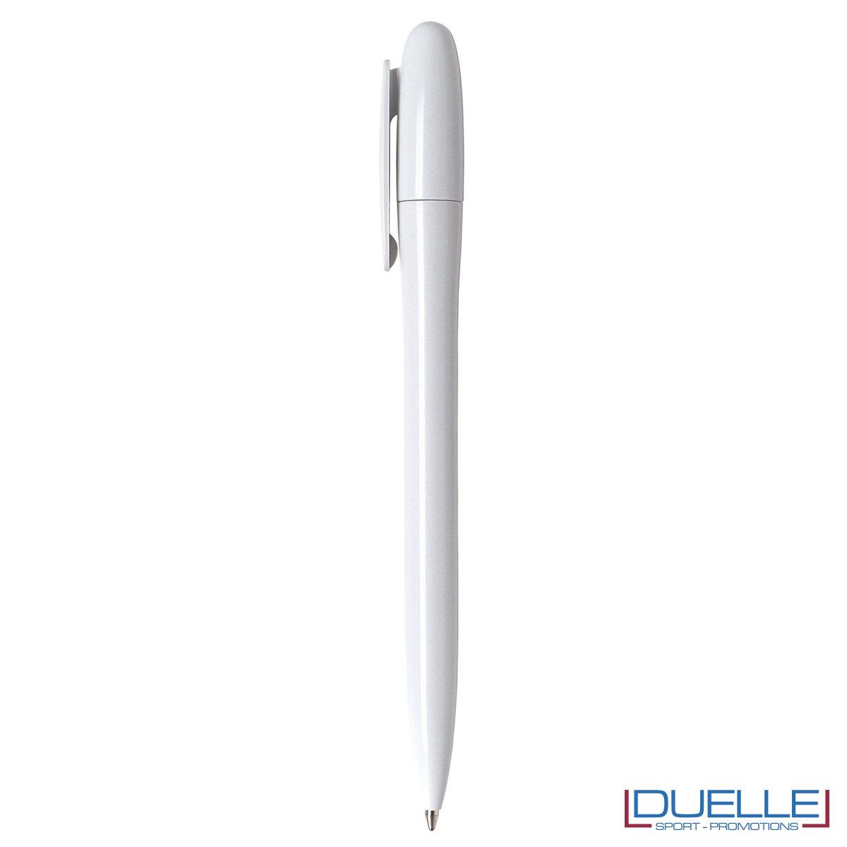 Penne made in Italy fusto lucido colore bianco personalizzata