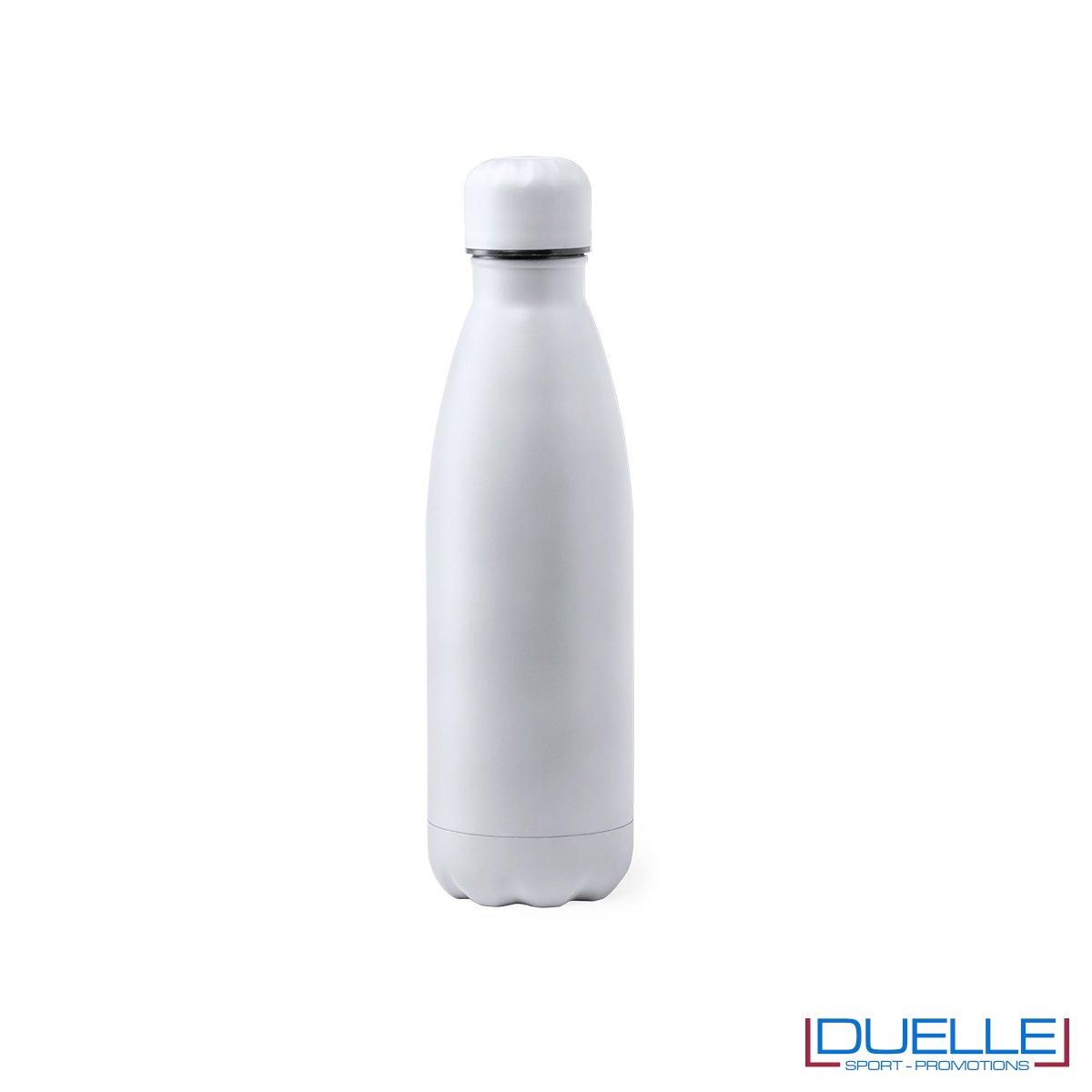 Borraccia in acciaio termica 790ml, colore bianco, personalizzata con incisione laser