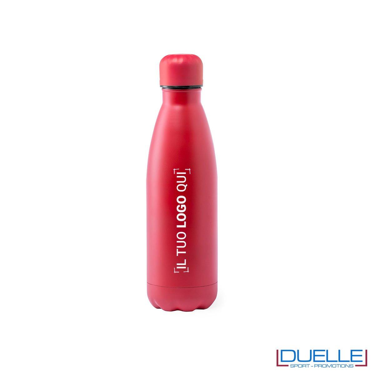 Borraccia in acciaio termica 790ml, colore rosso, personalizzata con incisione laser