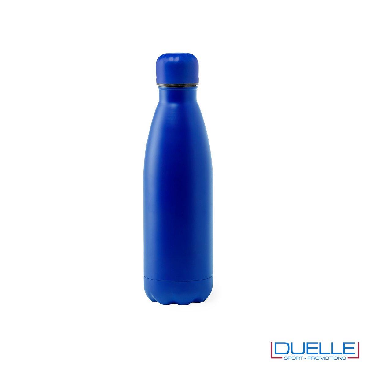 Borraccia in acciaio termica 790ml, colore blu, personalizzata con incisione laser