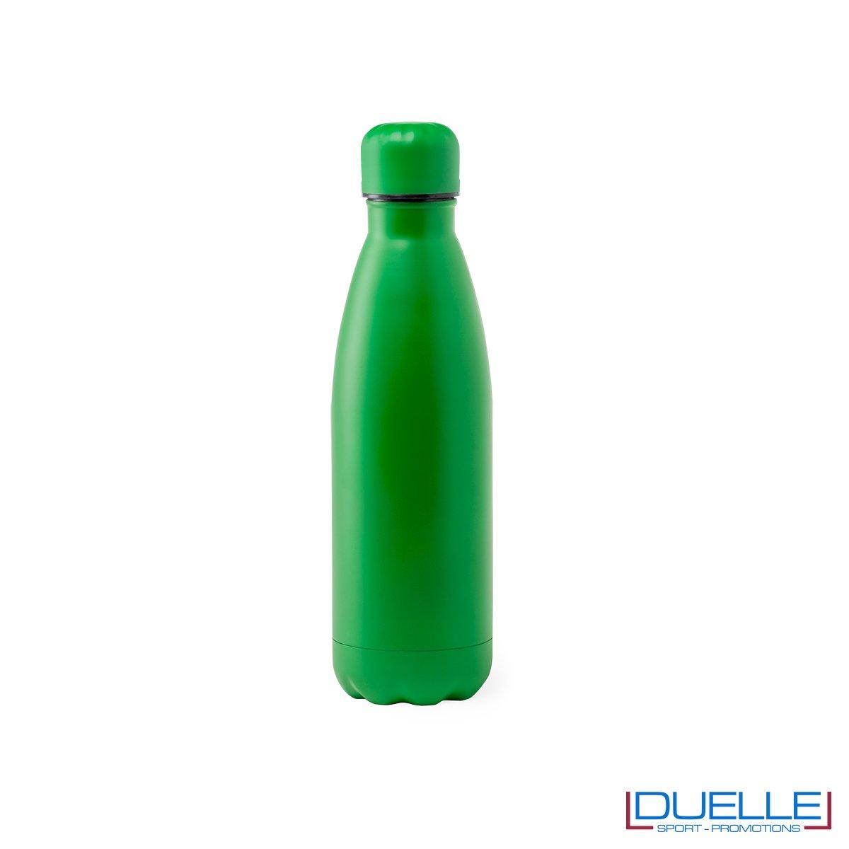 Borraccia in acciaio termica 790ml, colore verde, personalizzata con incisione laser