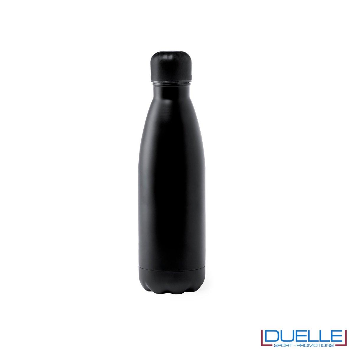 Borraccia in acciaio termica 790ml, colore nero, personalizzata con incisione laser