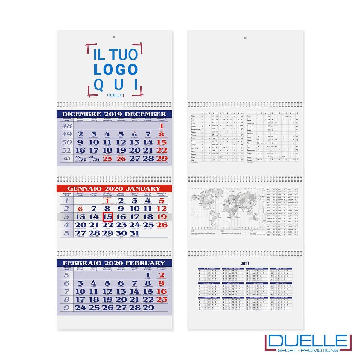 Calendario trittico personalizzato