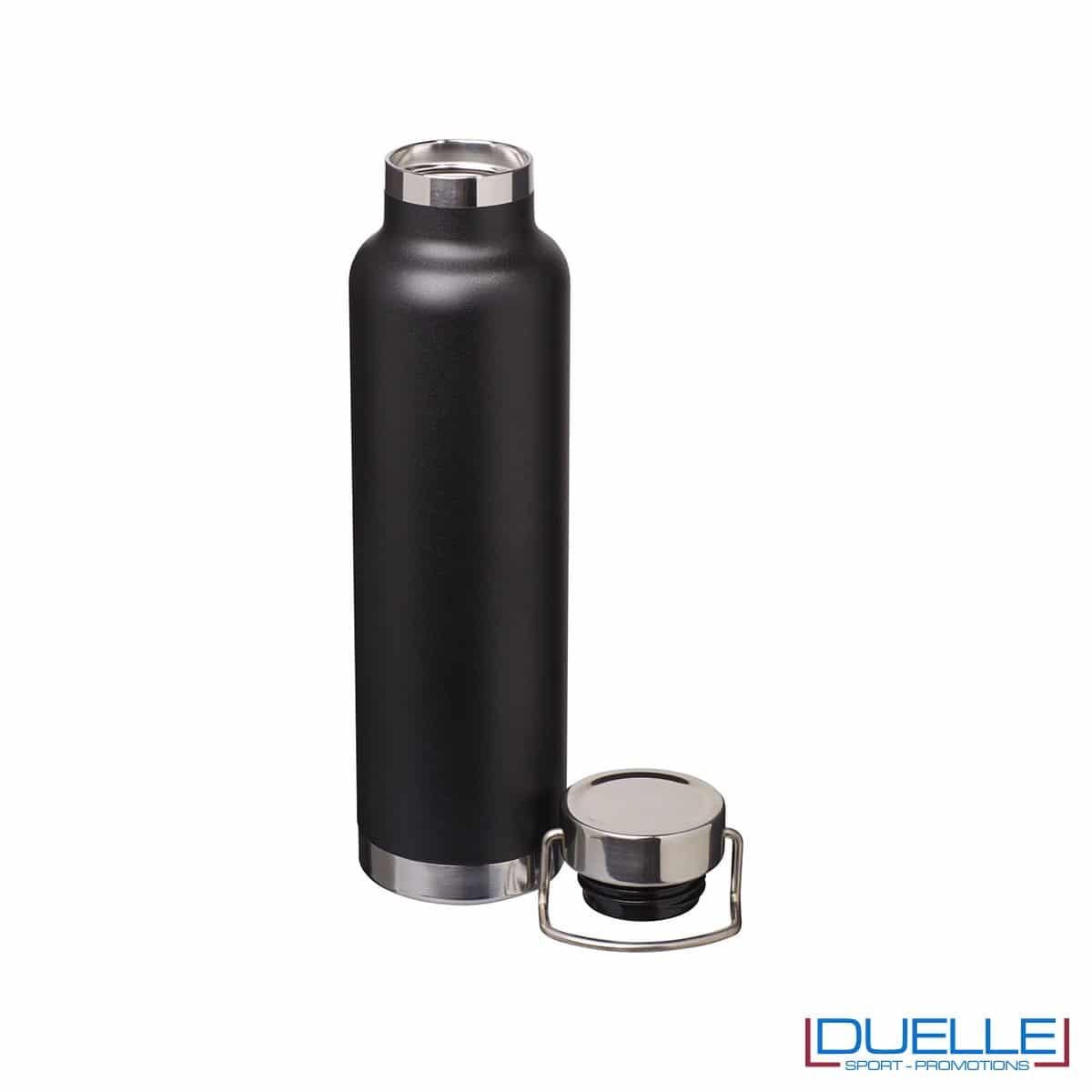 Borraccia termica 650ml personalizzata con incisione laser, colore nero