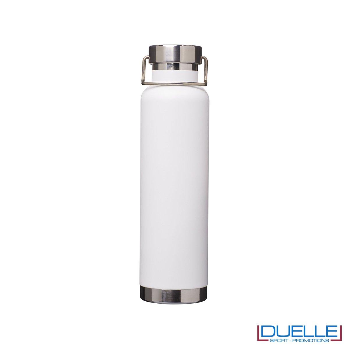 Borraccia termica 650ml personalizzata con incisione laser, colore bianco