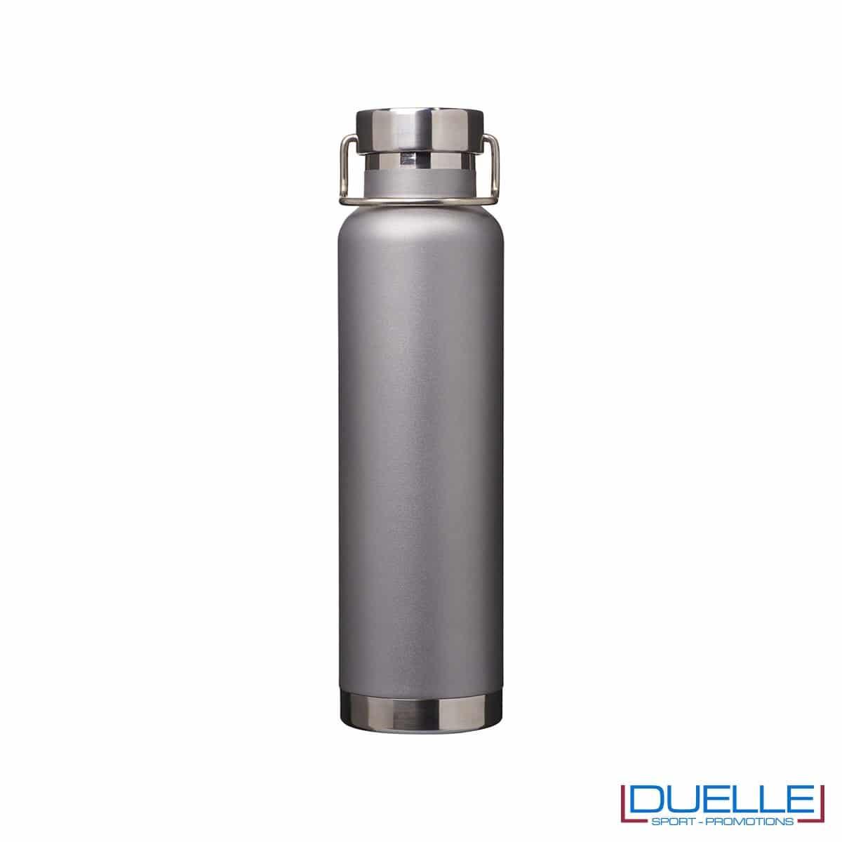 Borraccia termica 650ml personalizzata con incisione laser, colore silver