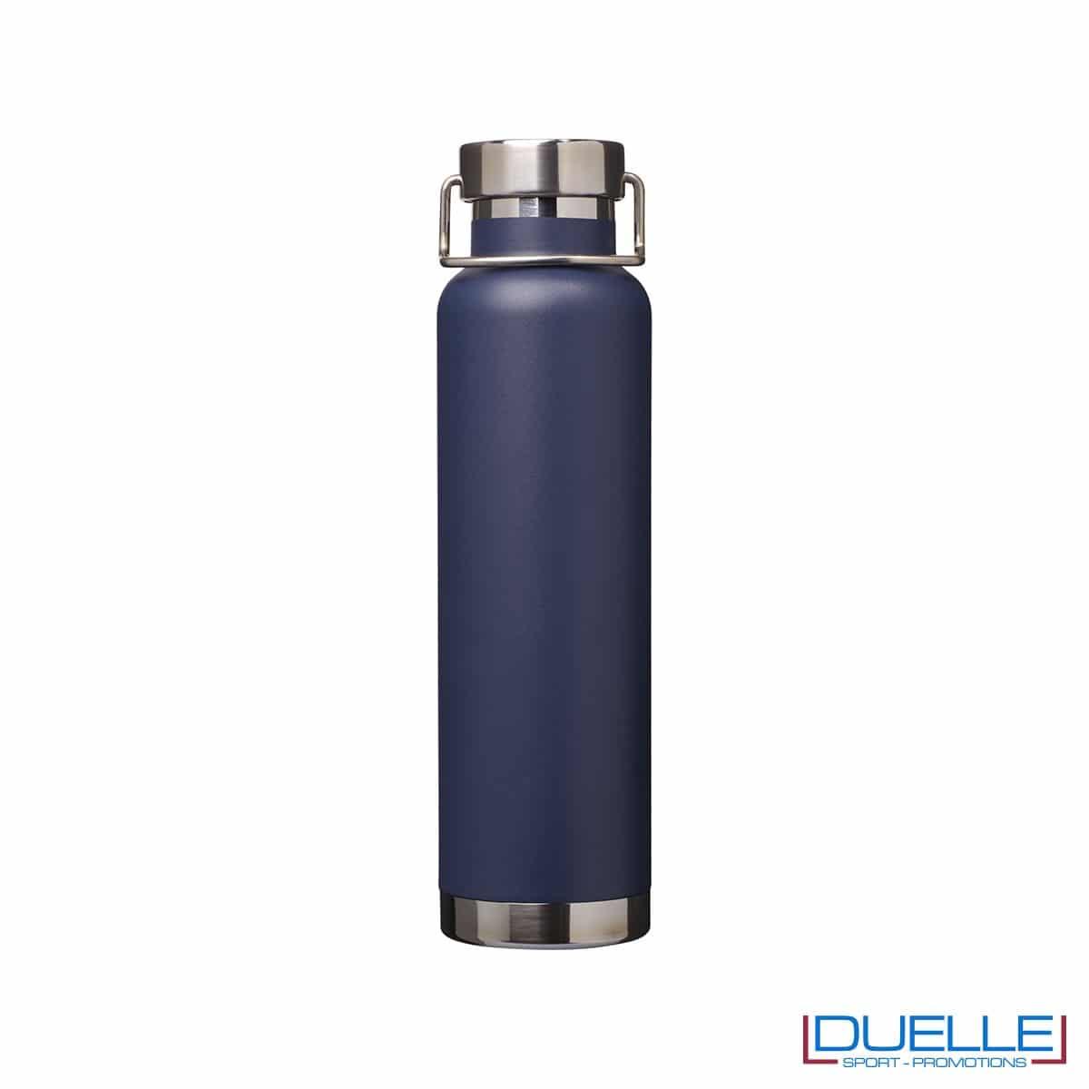 Borraccia termica 650ml personalizzata con incisione laser, colore blu navy