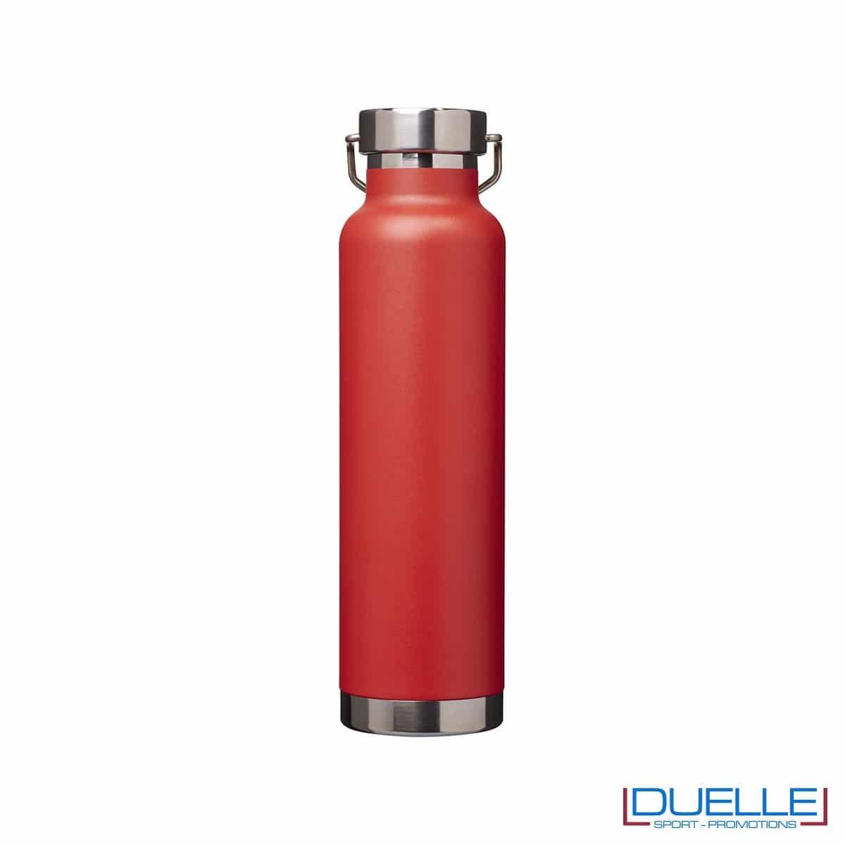 Borraccia termica 650ml personalizzata con incisione laser, colore rosso