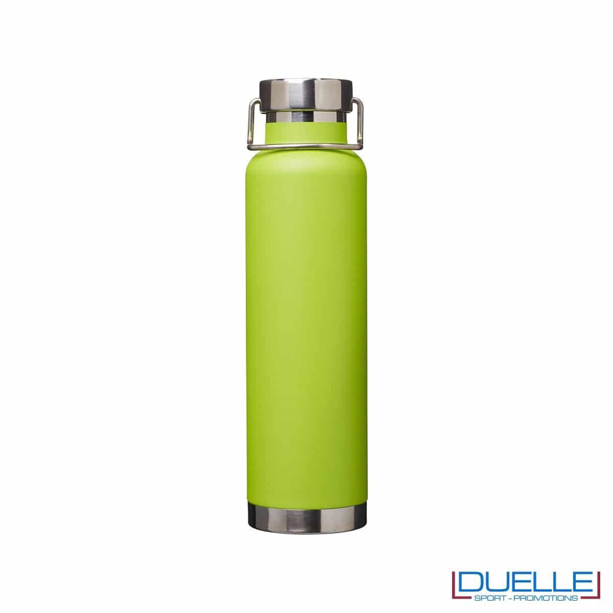 Borraccia termica 650ml personalizzata con incisione laser, colore verde lime