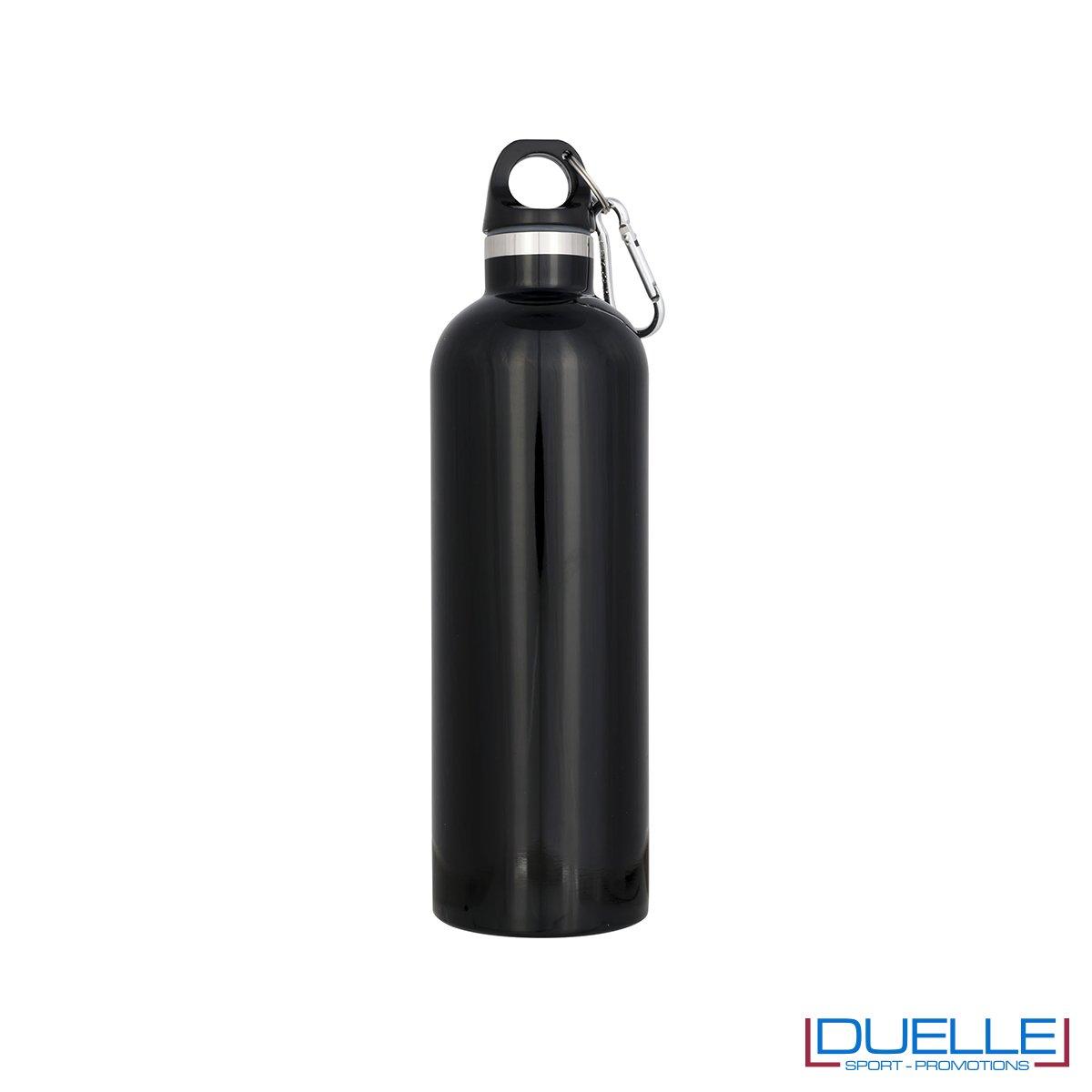 borraccia termica sottovuoto personalizzata in colore nero