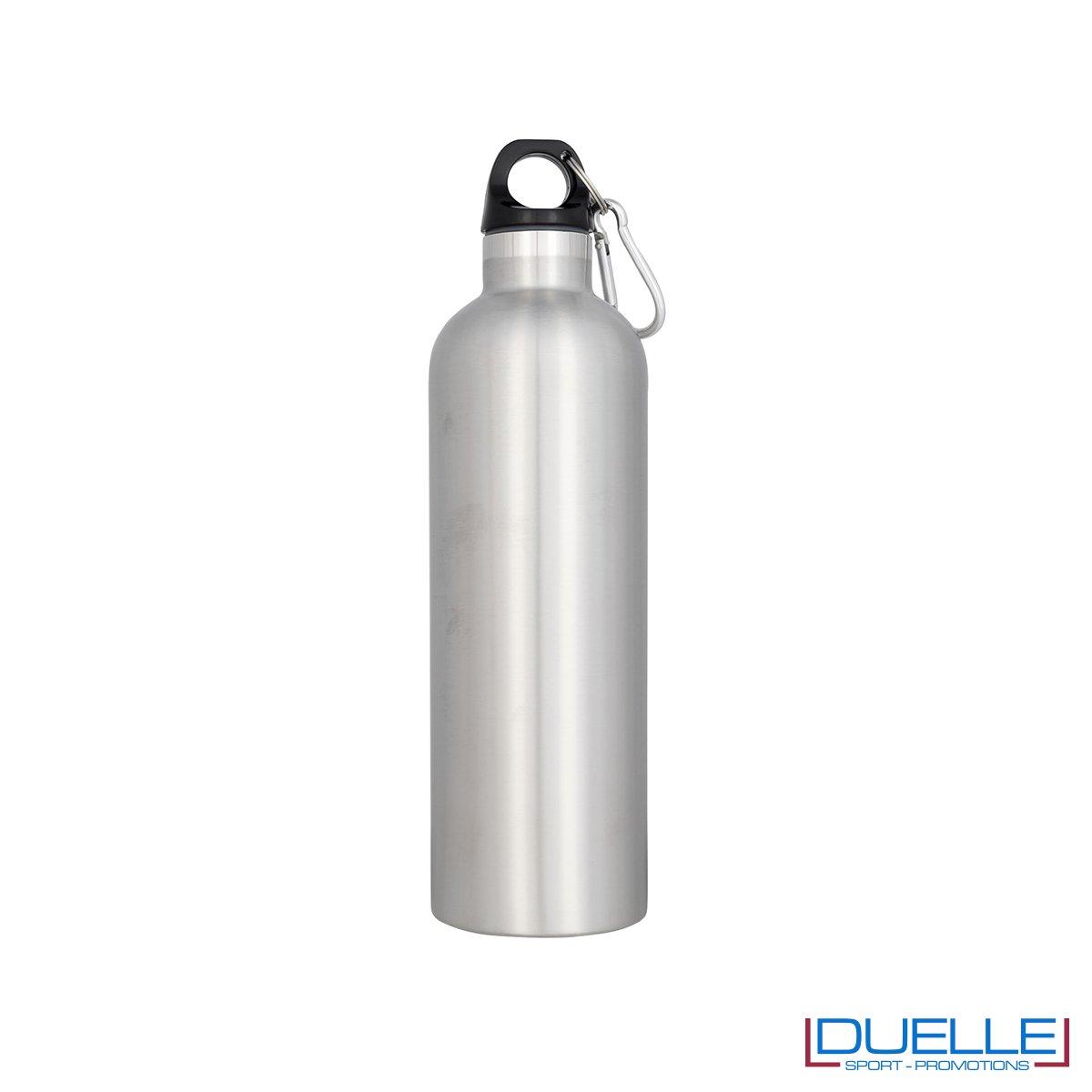 borraccia termica sottovuoto personalizzata in colore argento