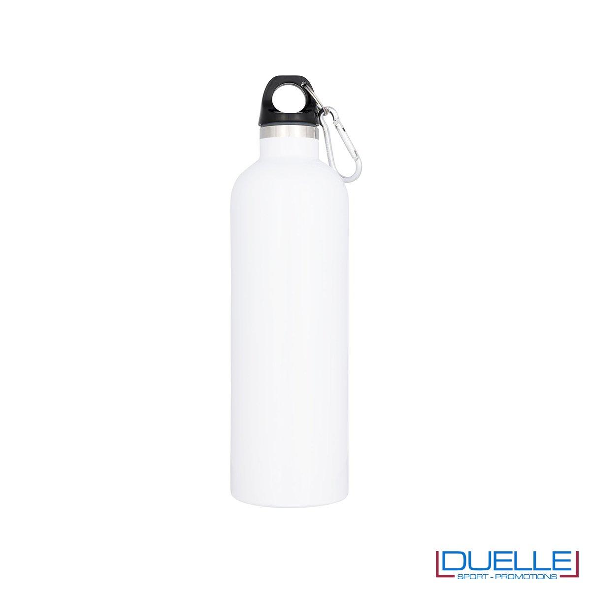 borraccia termica sottovuoto personalizzata in colore bianco