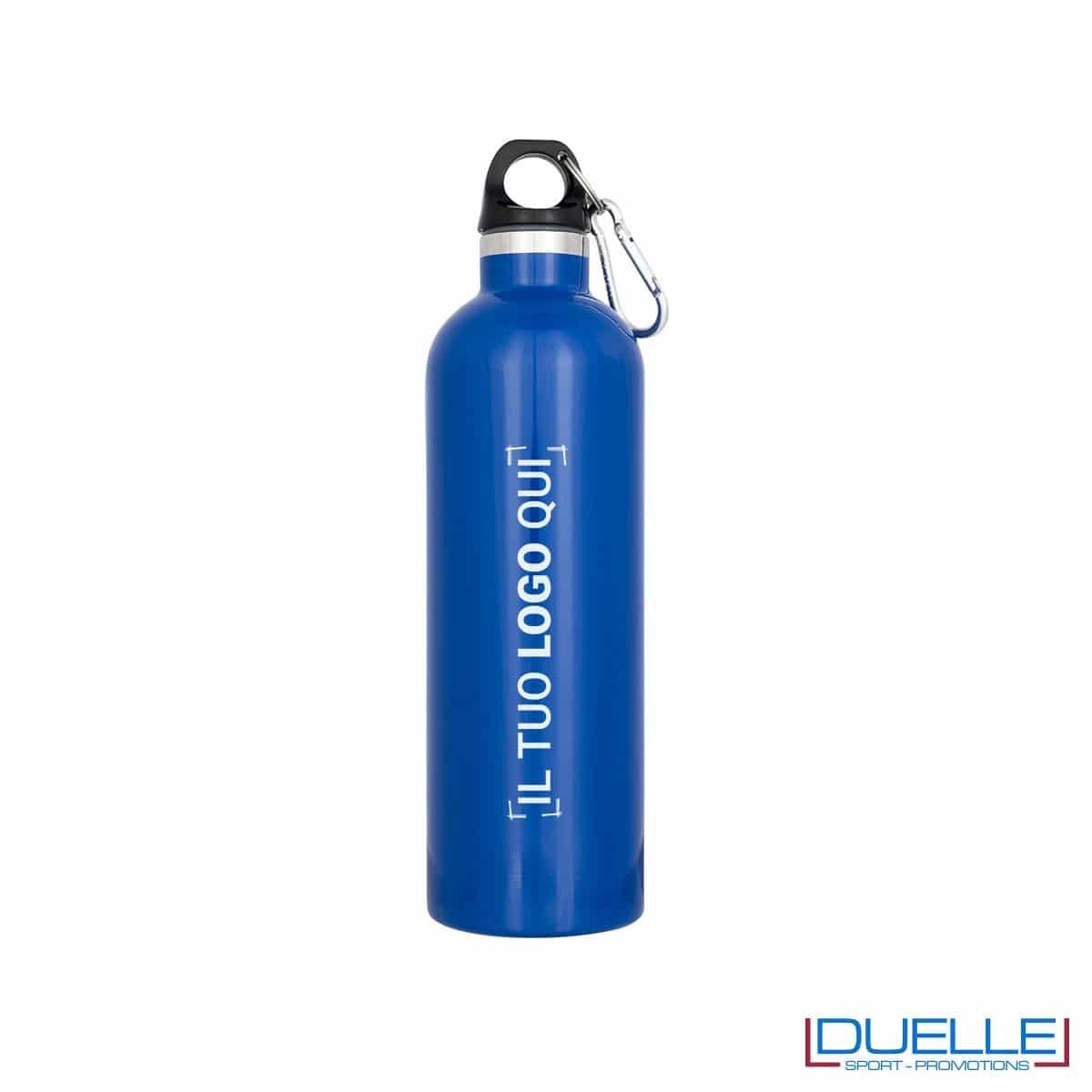 borraccia termica sottovuoto personalizzata in colore blu