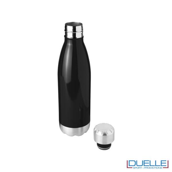 bottiglia termica personalizzata in acciaio a doppia parete colore nero