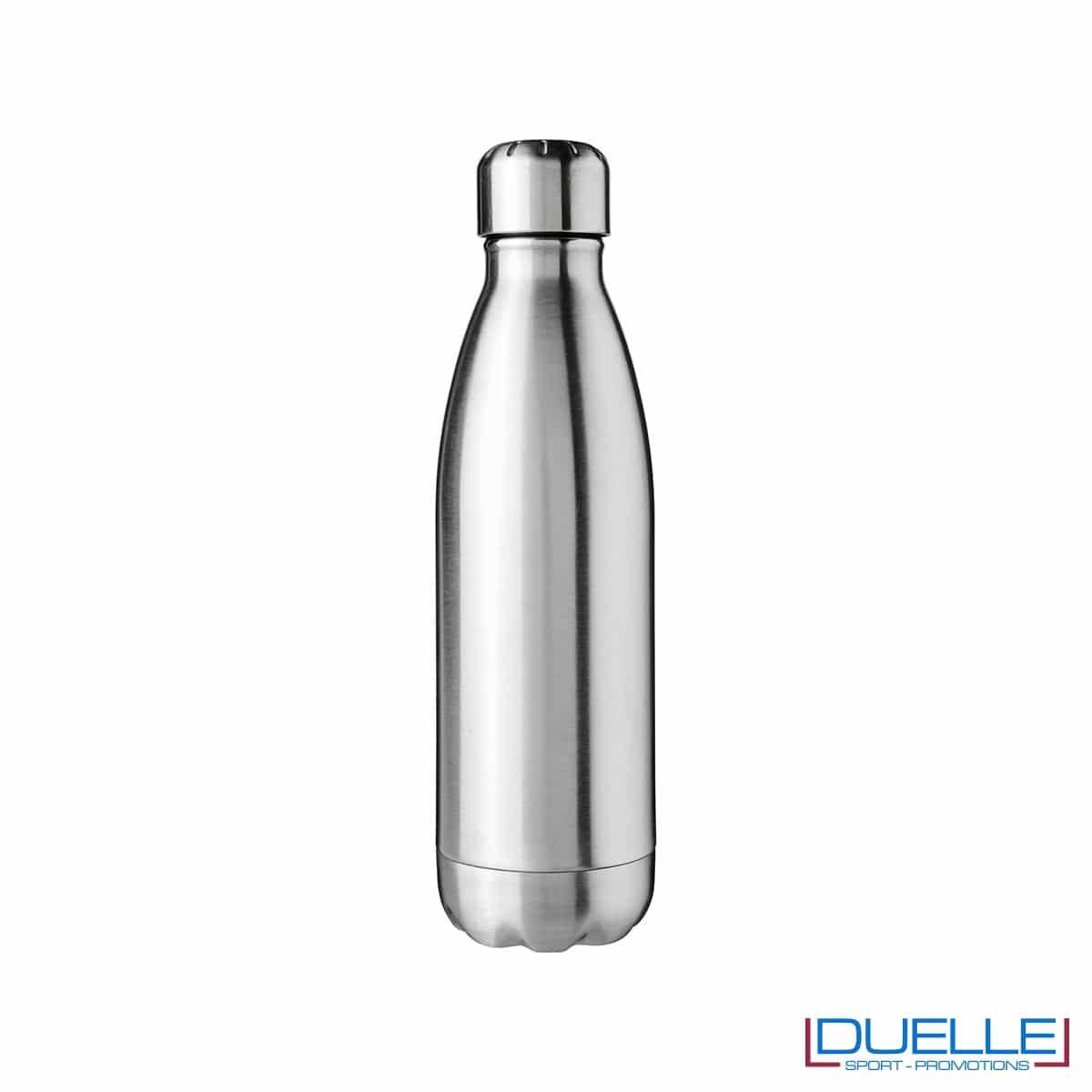 bottiglia in acciaio personalizzata colore acciaio