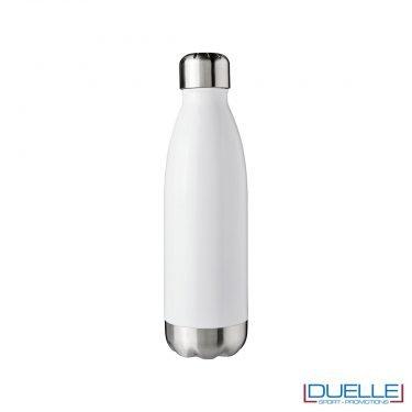 bottiglia in acciaio personalizzata colore bianco a doppia parete