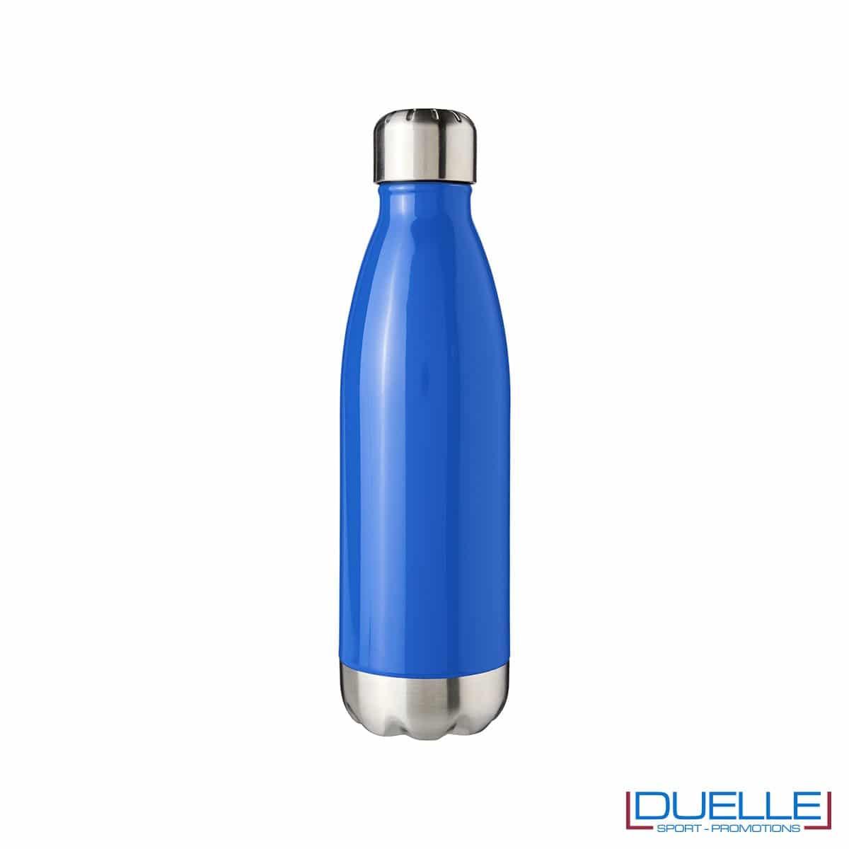 bottiglia personalizzata in acciaio colore blu
