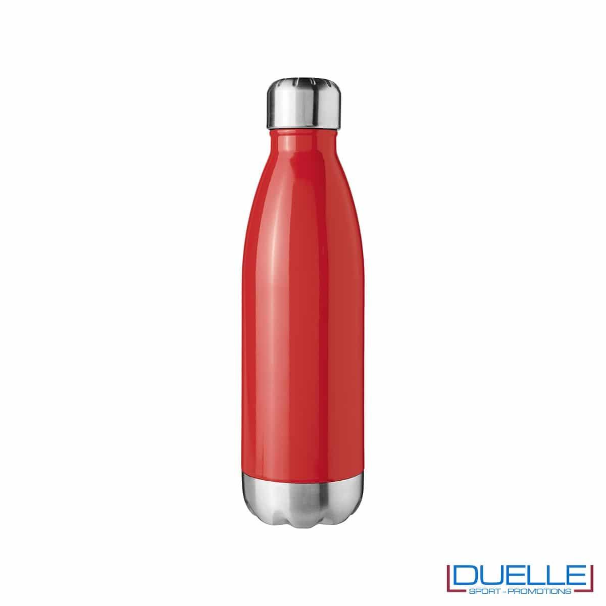 borraccia a doppia parete personalizzata in acciaio colore rosso
