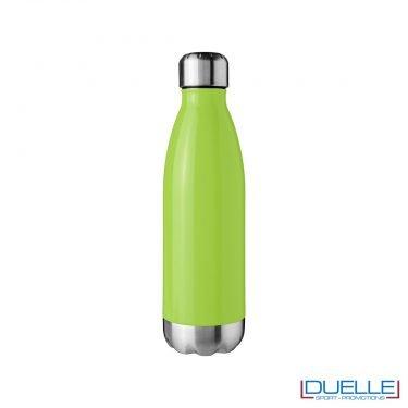 bottiglia a doppia parete personalizzata in acciaio colore verde