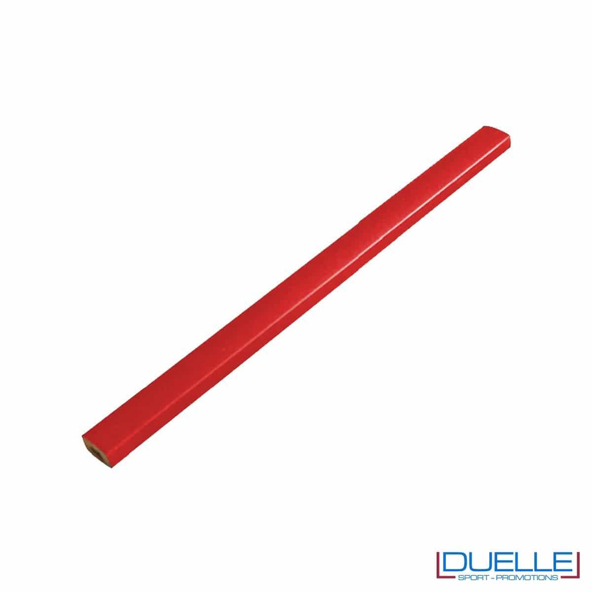 Matita falegname Metrica colore rosso personalizzata
