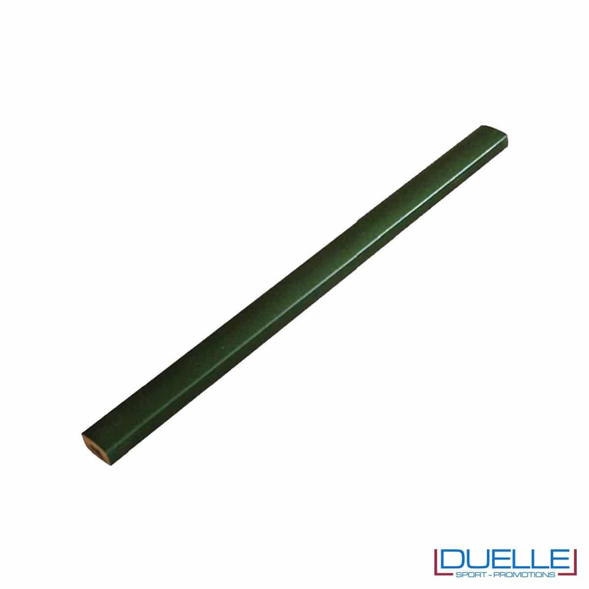Matita falegname Metrica colore verde personalizzata