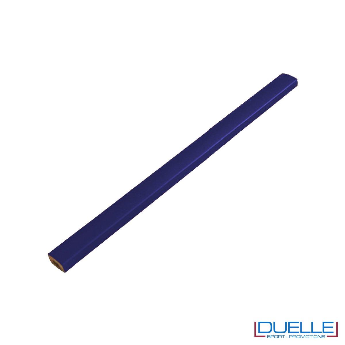 Matita falegname Metrica colore blu personalizzata