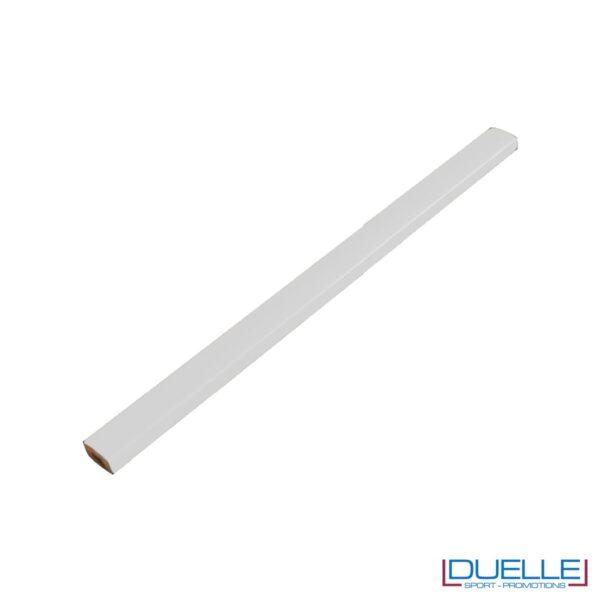 Matita falegname Metrica colore bianco personalizzata