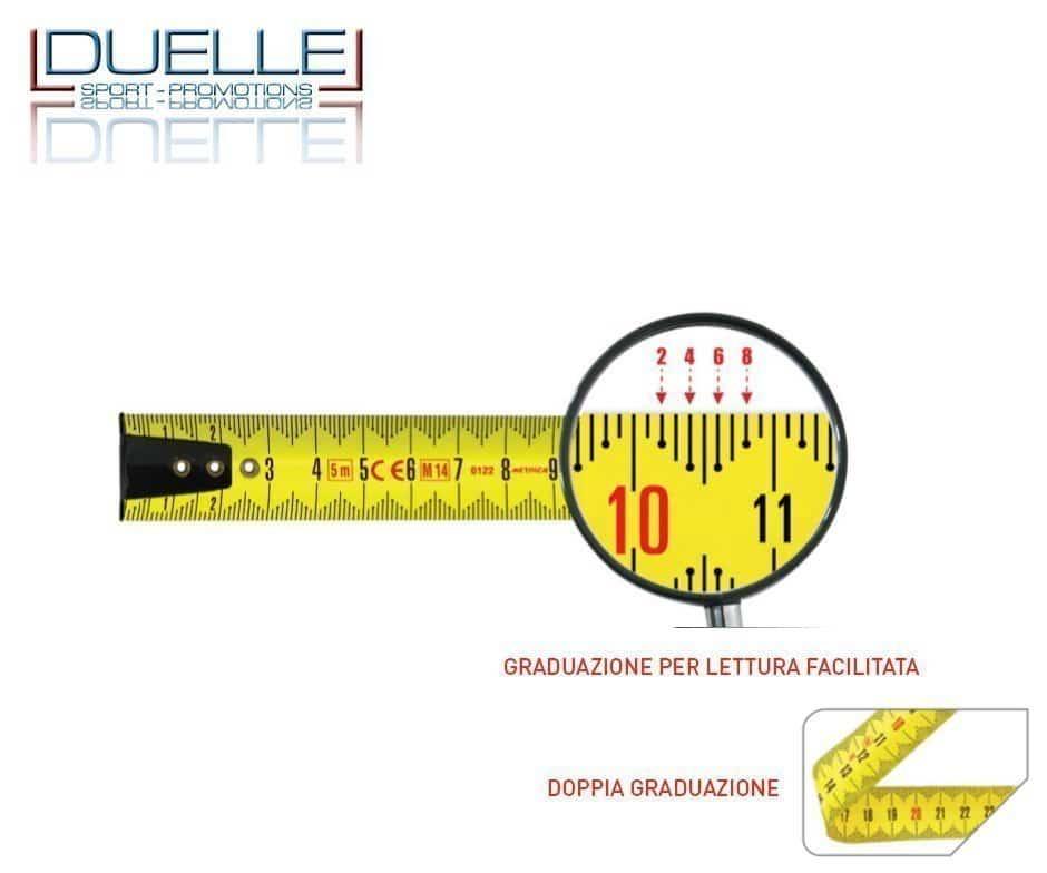 Lettura facilitata e doppia graduazione per il flessometro Metrica