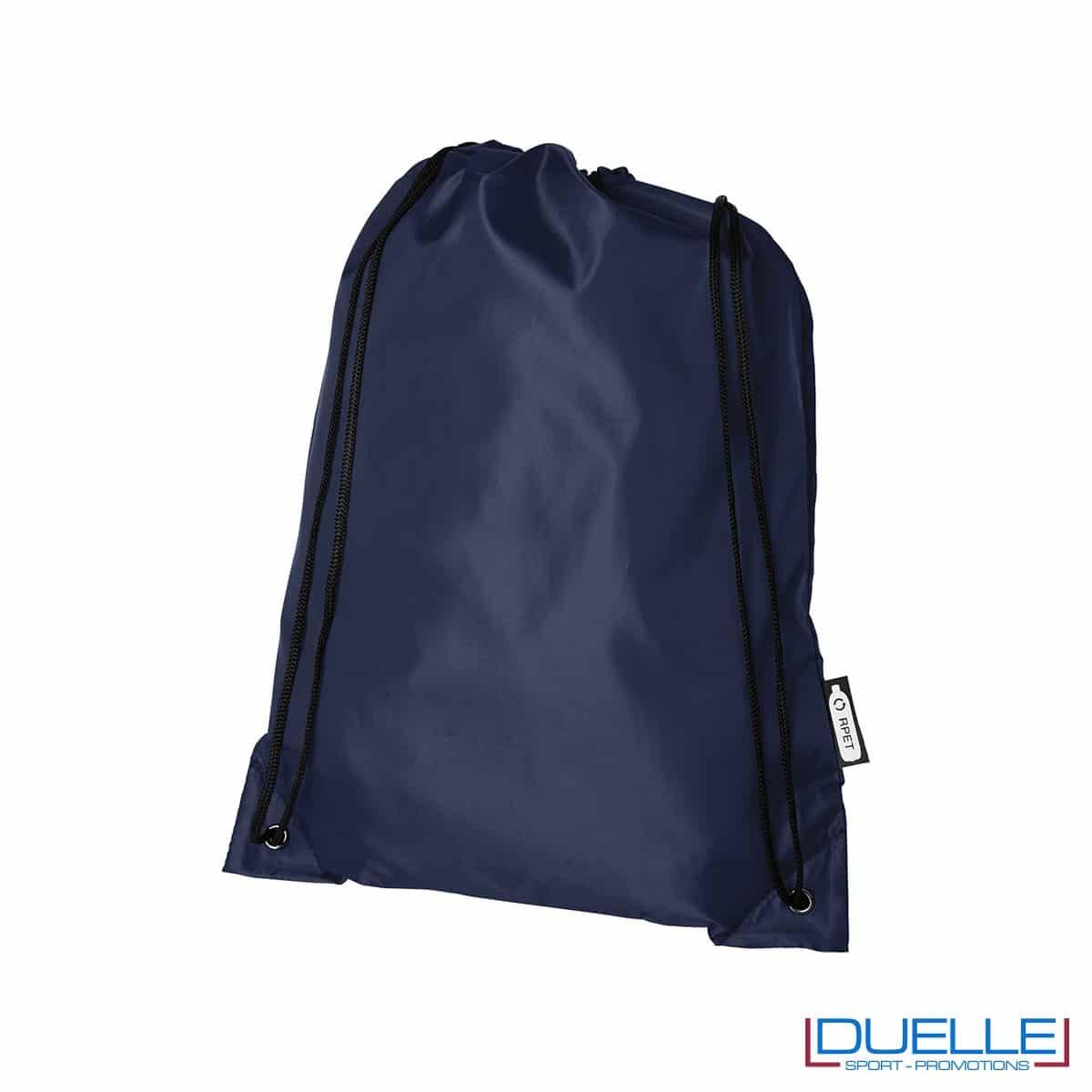 zainetto economico in plastica riciclata colore blu navy