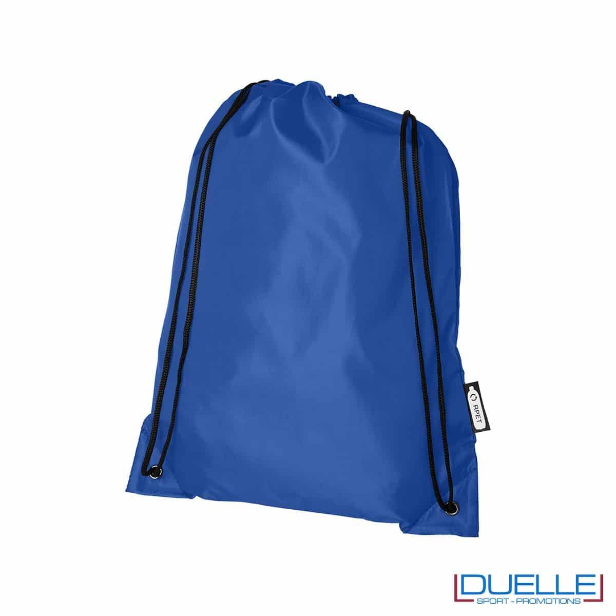 zainetto economico in plastica riciclata colore blu royal