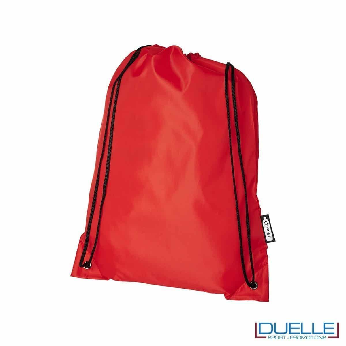 zainetto sport in plastica riciclata colore rosso