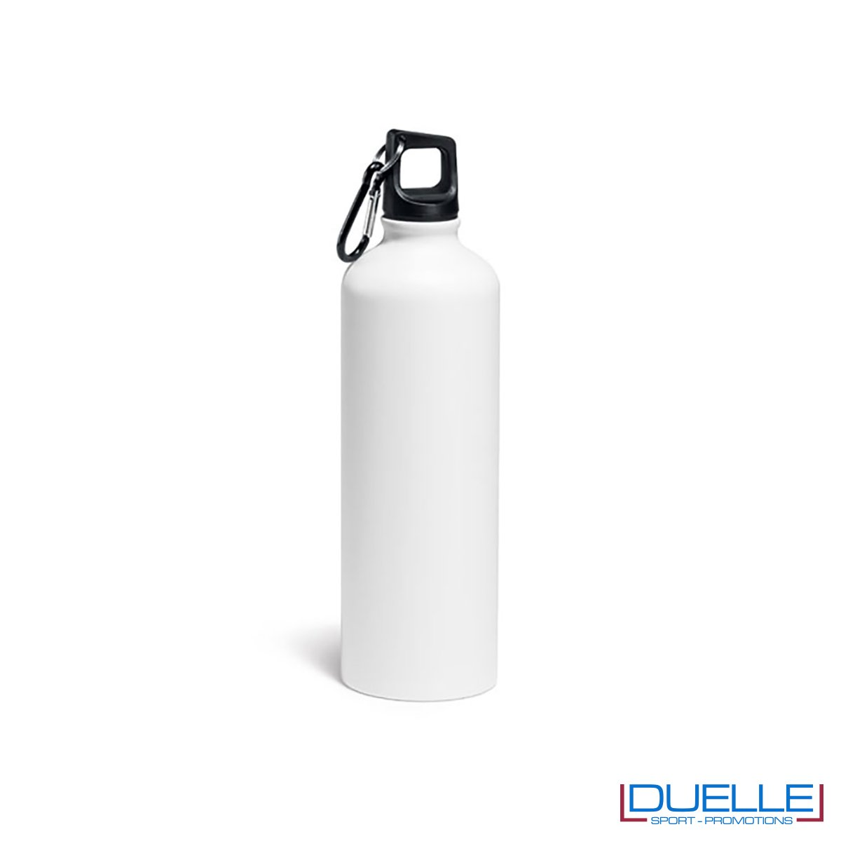 Borraccia in alluminio personalizzata con incisione colore bianco