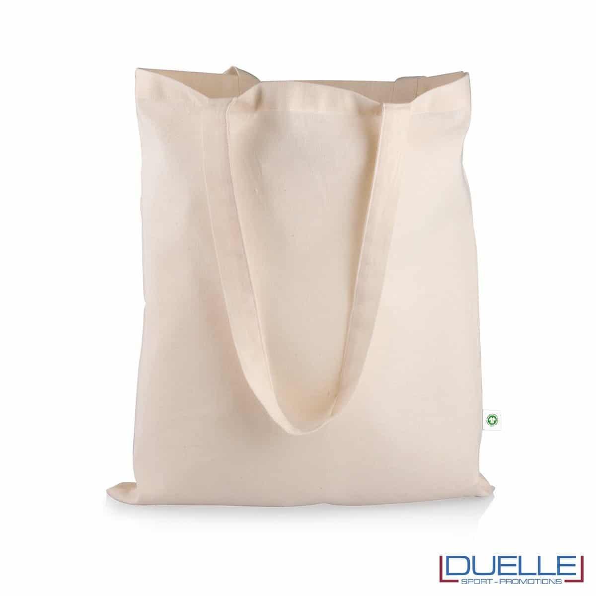 shopper in cotone organico certificato colore naturale