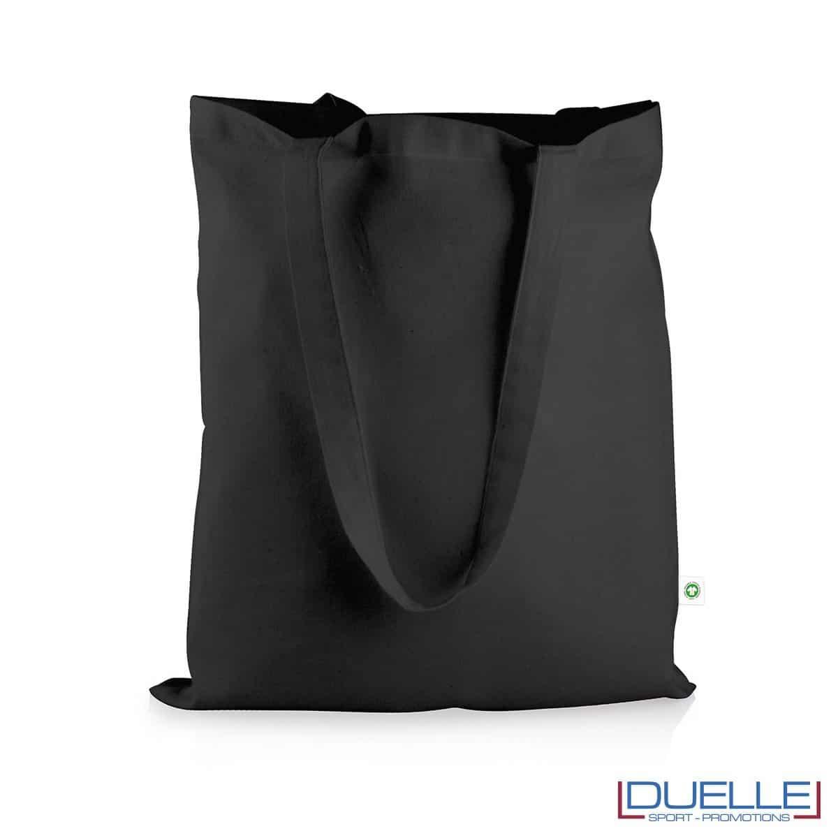shopper in cotone organico certificato colore nero