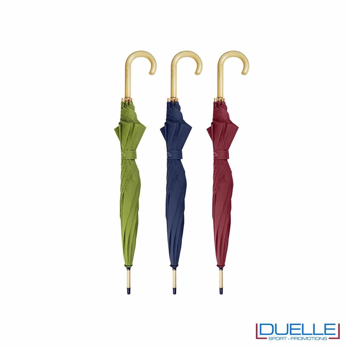 Ombrelli in tessuto R-PET personalizzabili con stampe colorate