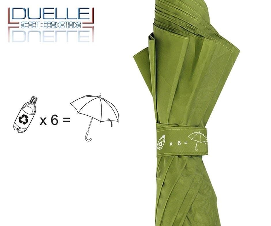 Tessuto R-PET per l'ombrello ecologico: 6 bottiglie di plastica per 1 ombrello
