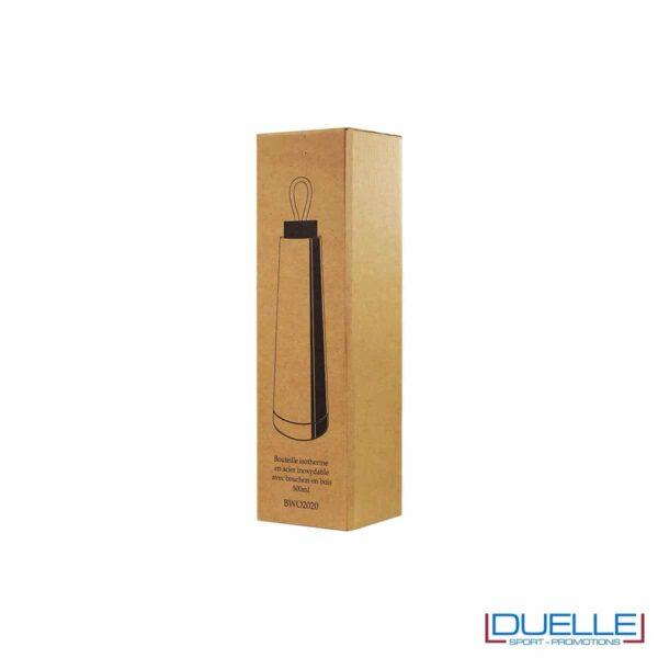 Confezione in cartoncino per borraccia in acciaio termica personalizzata