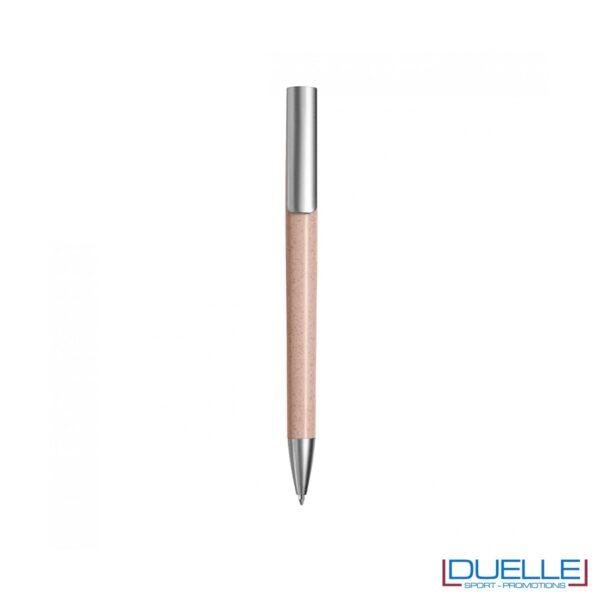 Penna ecologica in fibra di grano colore rosa personalizzata