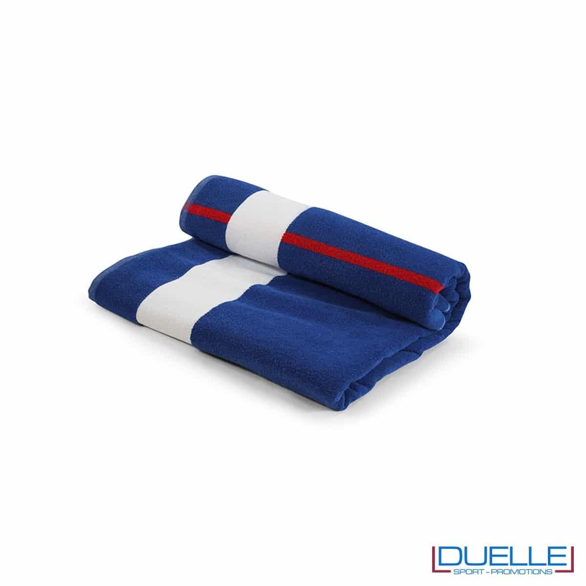 Asciugamano mare in cotone riciclato e fibra SEAQUAL personalizzabile con stampa